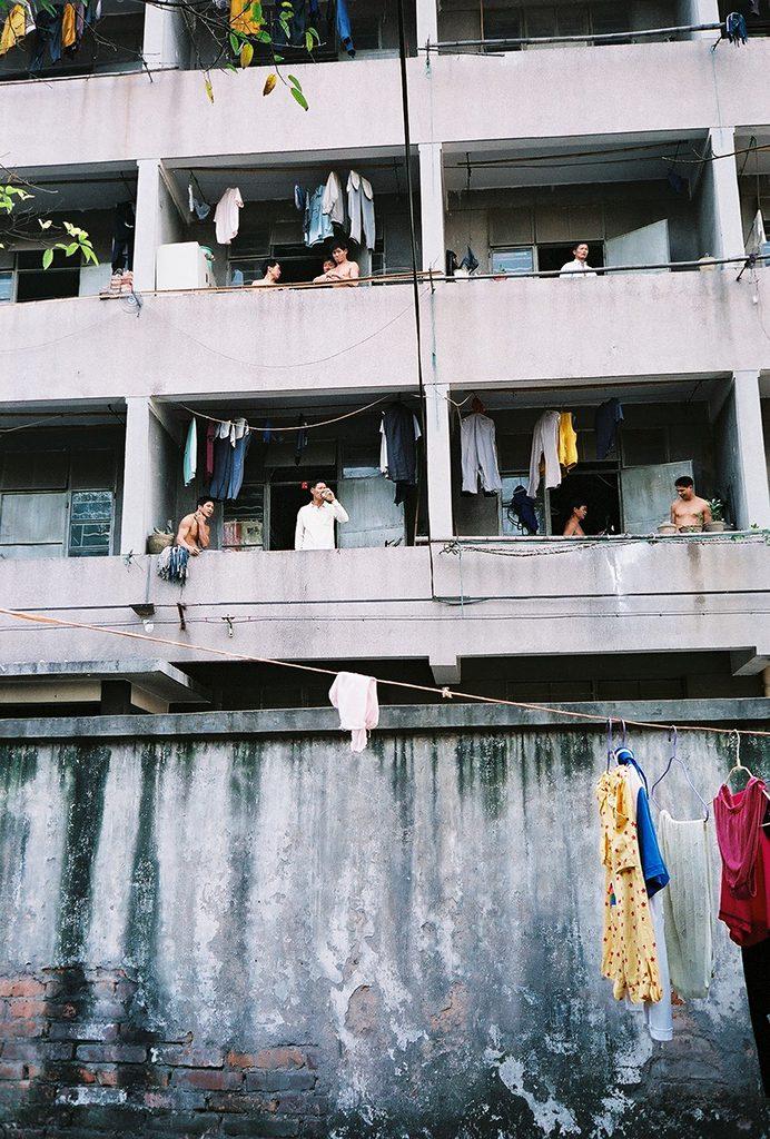 Logement collectif pour ouvriers dans un quartier industriel